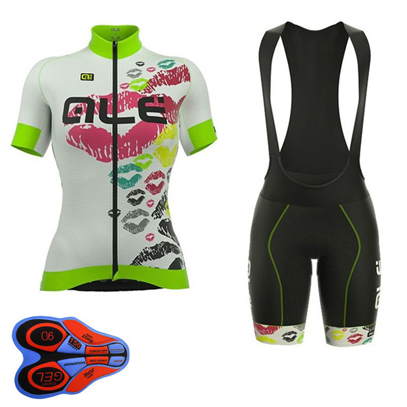 2018 ALE TEAM Pro Cycling Jersey Bib Shorts Set MTB Ropa Ciclismo Summer Bike Clothing racing Sport Wear Bicycle Clothes Maillot