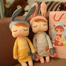 New Arrival Metoo Soft Health Plush Rabbit Baby Sleep Dolls with Gift Bag Kids Toys for Children Birthday Christmas Girl Doll