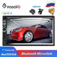 Podofo 2 din Car Radio Multimedia Player Autoradio Stereo 7