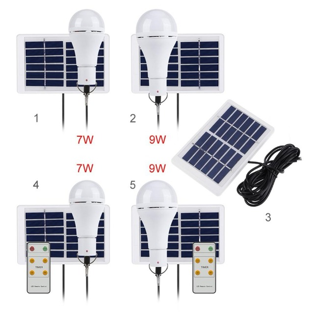 Portable Solar Light USB Rechargeable Solar Powered Energy Bulb Lamp 5 Modes 20 COB LED for Outdoors Camping Solar Lamp 3