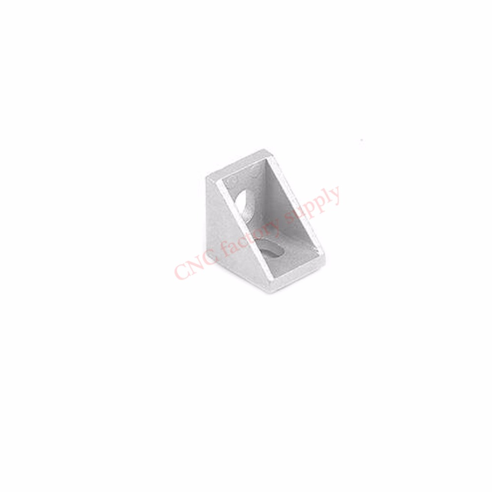 HOTSale 20pcs 2020 corner fitting angle aluminum 20 x 20 L connector bracket fastener match use 2020 industrial aluminum profile ...