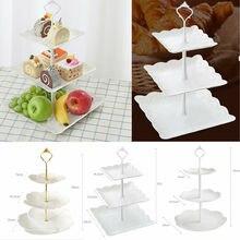 3 ярусный торт подставка десертная чашка подставка для торта свадебные тарелки вечерние кухонный инструмент