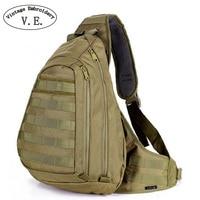 Винтажная мужская сумка с вышивкой  нагрудный слинг  A4  на одно плечо  большой дорожный рюкзак