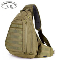 Vintage Embroidery Men Bag Chest Sling Pack A4 One Single Shoulder Man Big Large Ride Travel Backpack Bag Advanced