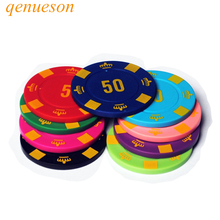 25PCS/Lot 4g ABS Crown Texas Hold'em Chips Board Games Poker Chips Mahjong Machine Club Dedicated Currency Cards Custom qenueson цена