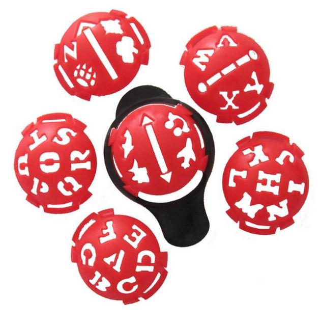 Golf Ball Marker Template | Free Shipping 5set Red Golf Ball Line Liner Marker Template Mark