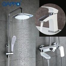 GAPPO смеситель для ванны тропический душ Смеситель Водопроводной воды Ванная кран для раковины ванной комнаты Душ потолок душ системы