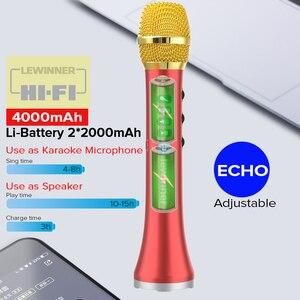 Image 2 - Lewinner L 698D Профессиональный Портативный беспроводной Bluetooth микрофон для караоке, 20 Вт