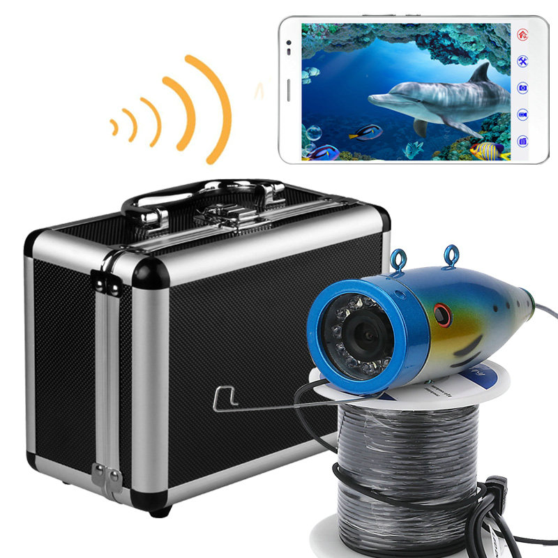 WIFI Wireless 20M/ 50M Underwater Fishing Camera Video Recorder APP Android And IOS Fishing Monitoring Underwater Adventure 2 4g wireless fish finder underwater fishing camera video free soft app 50m underwater breeding monitoring for fish searching