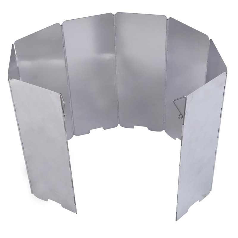 Durable good deal 8 plates Fold Camping Cooker Gas Stove Wind Shield Screen Foldable Outdoor