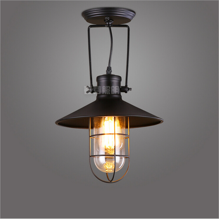 FREE SHIPPING!Nordic American country industrial personality retro minimalist style loft warehouse cage wall sconce lamp light