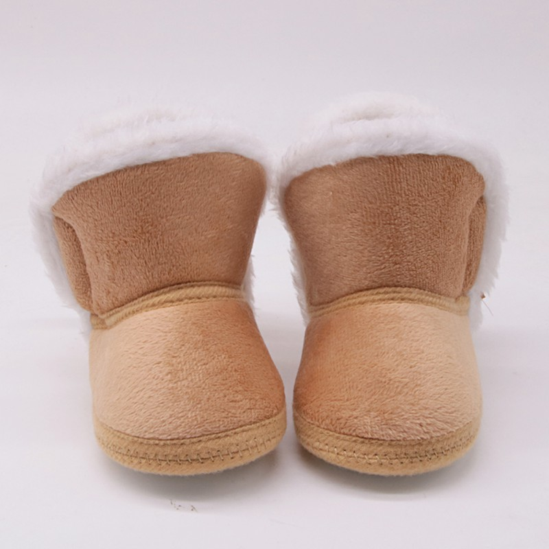 Newborn Baby Girl Boy Shoes Winter Warm  Snow Boots Bowknot Fleece Shoe For Girls Boys Anti-silp Prewalker Booties Baby Shoes