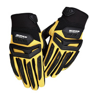 SCOYCO Motorcycle Motorbike Bike Riding Gloves Motorcross Off Road Racing Gloves Rubber Protection Breathable Gloves MX54