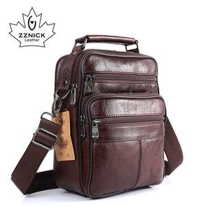 Image 2 - ZZNICK 2017 Men Bags Ipad Handbags Sheepskin Leather Male Messenger Purse Man Crossbody Shoulder Bag Mens Travel Bags  8101