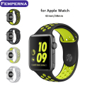 Femperna Newest Watchband For Apple Watch Nike+Silicone Sport Band Strap For Apple watch 38MM/42MM Replacement Bracelet Strap
