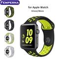 Femperna mais novo pulseira para apple watch cinta banda esporte nike + silicone para apple watch 38mm/42mm substituição strap pulseira