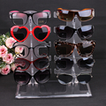 10 pairs Glasses display rack plastic detachable double row sunglasses show stand receive jewelry eyeglasses frame display shelf