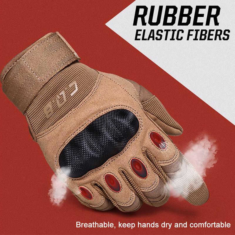 CQB açık taktik eldiven tam/yarım parmak spor yürüyüş sürme bisiklet askeri erkek eldivenleri zırh koruyucu kabuk eldiven