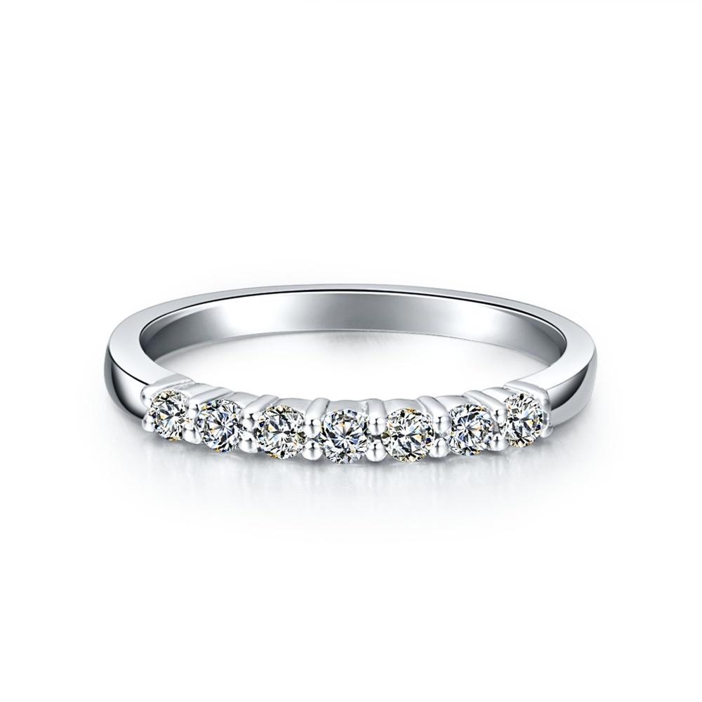 Elegant Bridal Diamond Band Ring for Women Royal Designer 925 Sterling Silver Nice Quality Engagement Rings