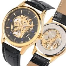 Men Watch Mechanical Watch Hand Wind Skeleton Watch Top Brand Luxury Leather Watchband Wristwatch Leisure Clock Men reloj hombre все цены