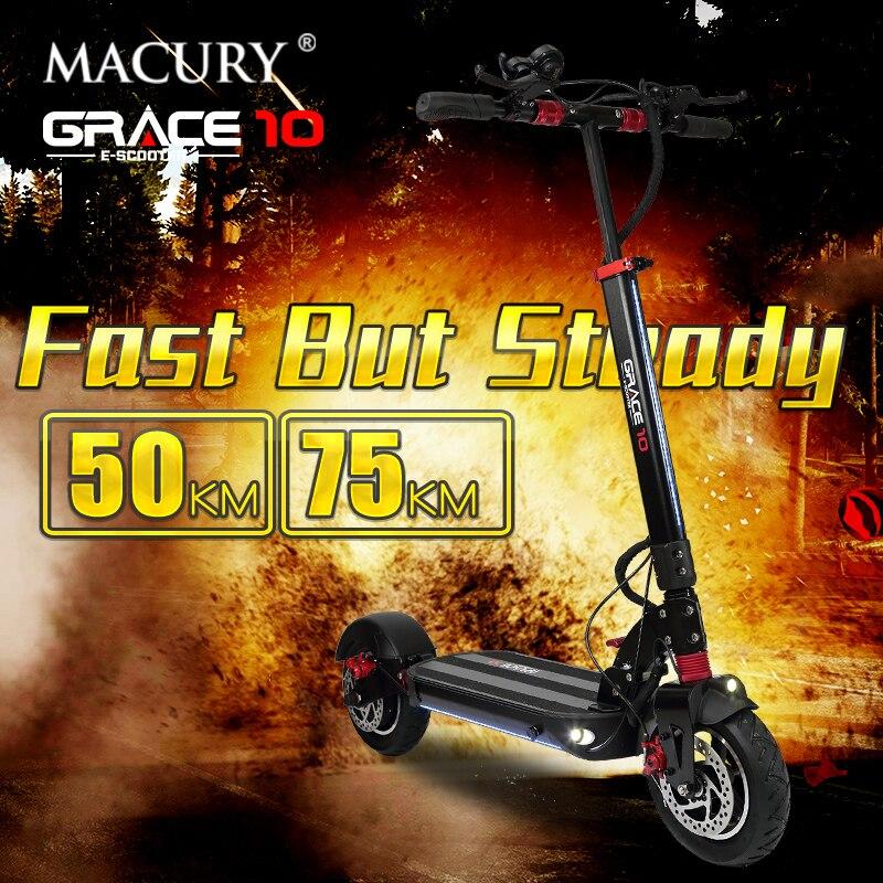 Macury GRACE10 scooter électrique GRACE 10 hoverboard planche à roulettes 2 roues 10 pouces 52V1000W adulte zéro 10 mini pliable ZERO10 - 4