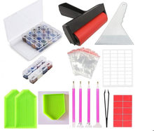Diy Diamond Embroidery Accessories and Tools Kit Adult or Kids Diamond Painting Box Mosaic Glue Pen Kit(China)