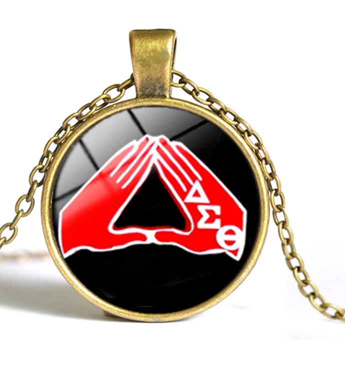 Delta Sigma Theta Earrings: Greek Greece Sorority Fraternity Organization Delta Sigma