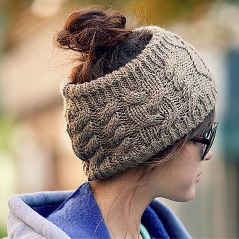 BONJEAN Women Spring Autumn Winter Warm Cover Headgear Beanies Winter Scarf Knitted Hat Hip-hot Skullies Girls Gorros 5 colors skullies hot sale female tide leather braids knitted cap autumn and winter women s curling ear warmers headgear 1866784