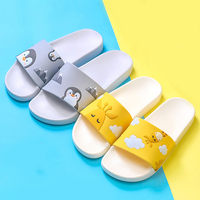 Été diapositives dessin animé femmes pantoufles mignon Animal chien mouton maison pantoufles sans lacet glisser sandales femmes chaussures Bothe tongs
