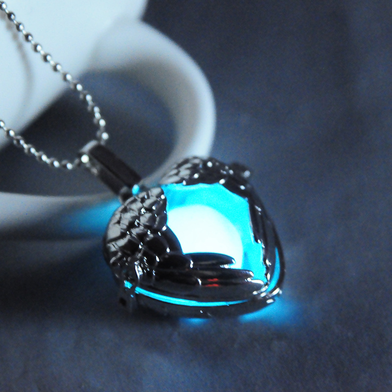 Three colors Luminous Balls Openable Pendant Necklace Hollows