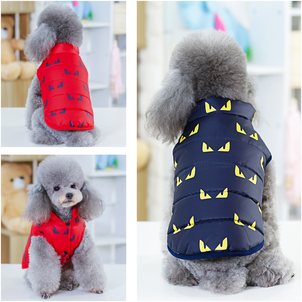 Adorable Winter Dog Vest Small Pet Clothes Puppy Cat Warm Padded Coat Jacket Chihuahua Yorkies Clothing Apparel Dropshipping
