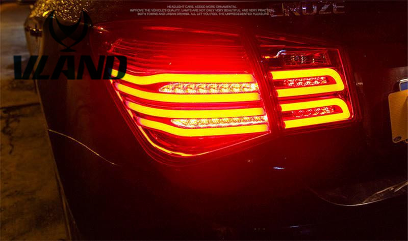 Vland Factory for Cruze Taillight 2010 2011 2012 2013 LED Tail lamp with DRL+Reverse+Brake Plug and Play Design car parts tail lamp for vw golf 6 2008 2009 2010 2011 2012 2013 led tail light rear lamp plug and play design