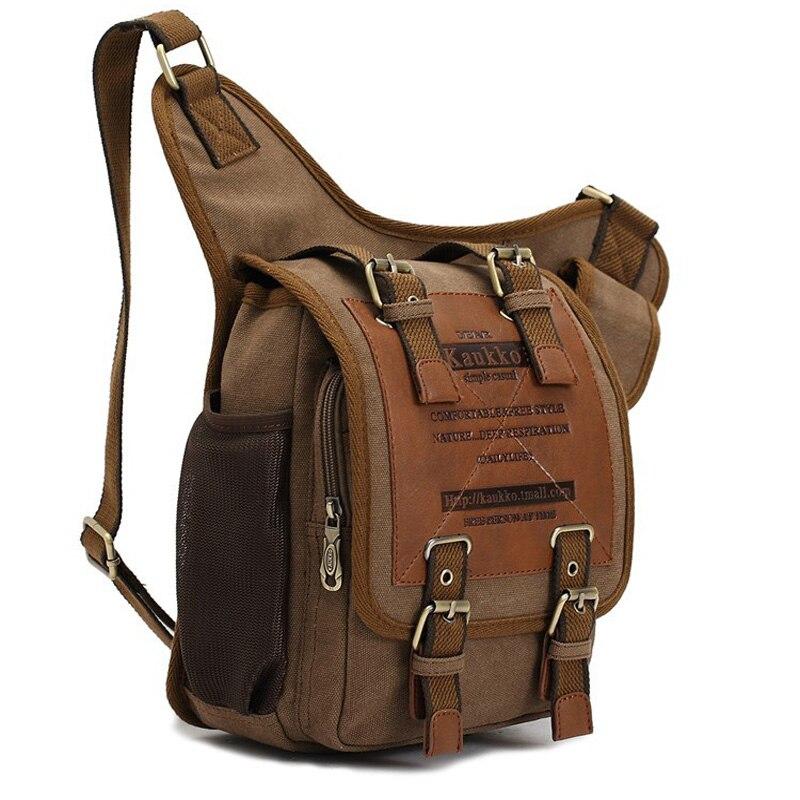 Aliexpress Hot Kaukko Brand Men Retro High Quality Canvas Bag Travel Messenger Bags Man Crossbody Shoulder From Reliable