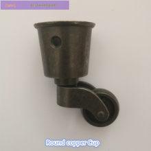 Roulettes rondes en cuivre pour tasse, étagère, canapé, chaise, meubles