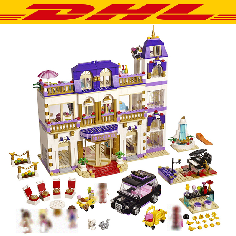 1676Pcs Friend Figures Princess Heartlake Grand Hotel Model Building Kits Blocks Bricks Girl Toys For Children Compatible 41101 ip камера rvi rvi ipc32ms ir v 2