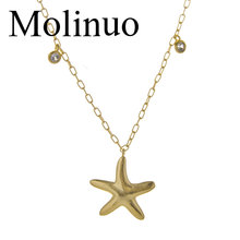 2019 New Fashion Gold Color starfish Pendant Necklace for Women  Summer Jewelry Starfish necklace