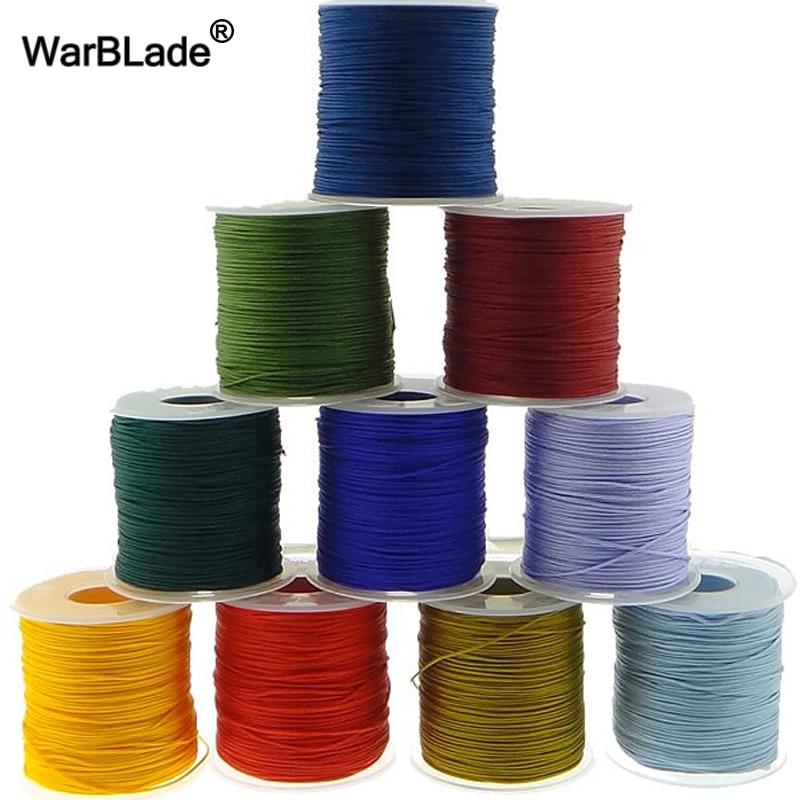 Wholesale 100M 0.8mm 1mm 1.5mm 2mm Cotton Cord Nylon Thread Cord Plastic String DIY Rope Bead Shamballa Bracelet Jewelry Making