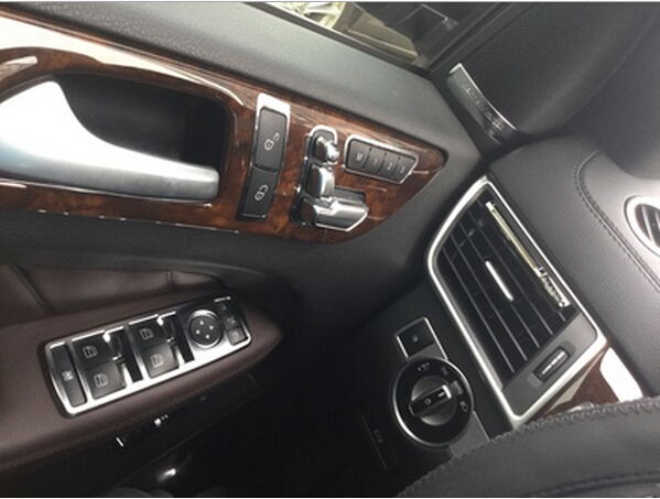 5pcs Chrome Interior Window Button Cover Trim For Mercedes Benz W246 W204 W212 W218 X156 W166 C117 B C E CLS GLA CLA ML Class in Car Stickers from Automobiles Motorcycles