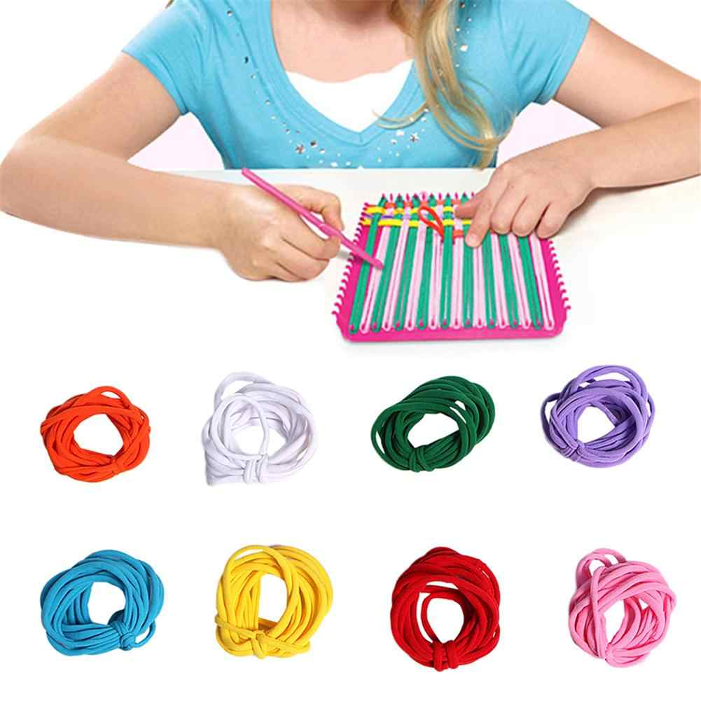 Stretchy Braided Crafts Loops Toy Accessories DIY Woven String Elastic N Loom Refill Braided Loops For Children Kids Without Box