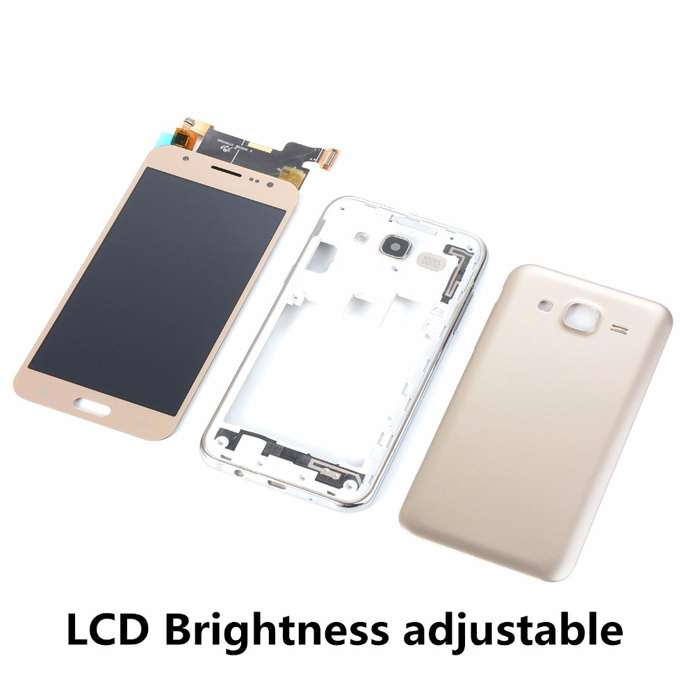 For Samsung Galaxy J5 2015 <font><b>J500F</b></font> J500H J500FN <font><b>LCD</b></font> Touch Screen Digitizer Display+Housing Middle Frame Cover+Battery Back Cover image