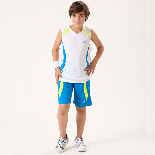 da91314d8ee3 Kids Clothing Sets For Boys basketball Sports Suits patchwork Basketball Sportswear  Summer T-Shirts   Shorts 130-180cm