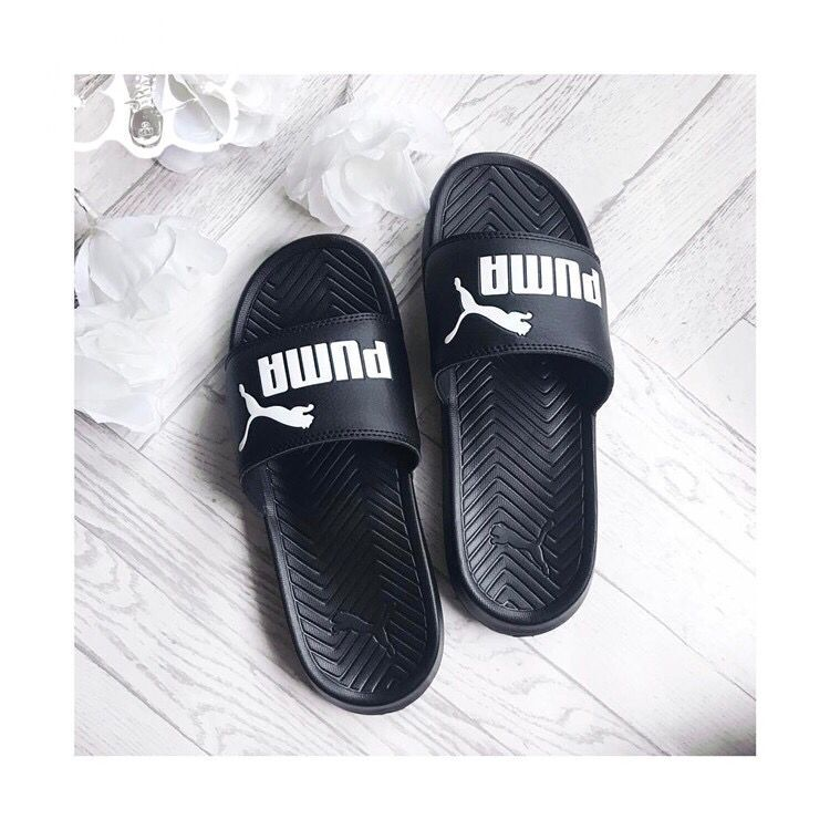 2018 New Arrival Puma PopCat Slippers Men and women Shoes Classic Waterproof Couple Beach Slippers 36-44 ...