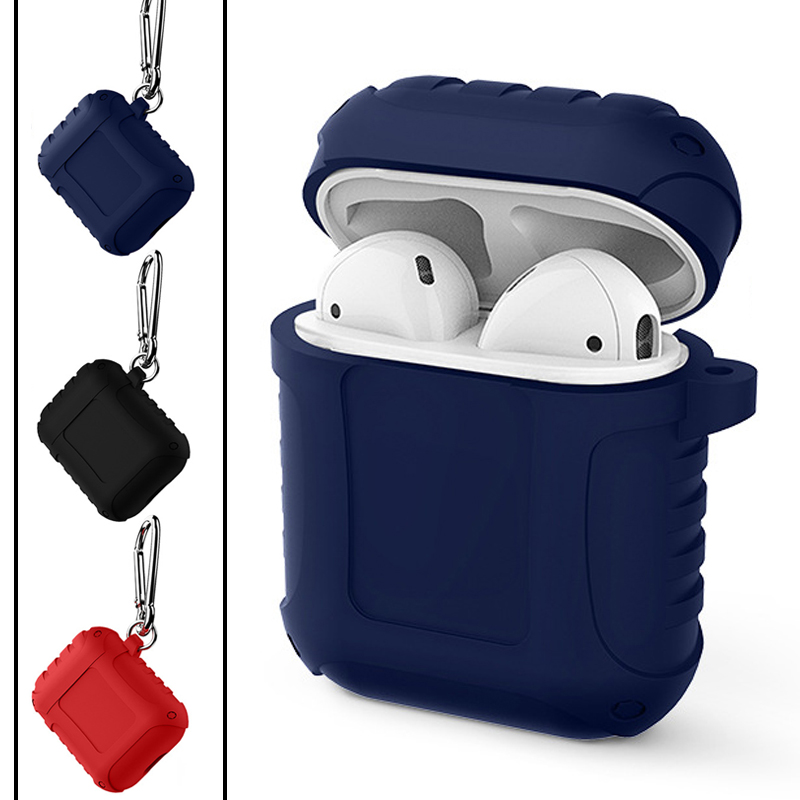 Creative new protective cover for Airpods with hook silicone non-slip waterproof protective cover Bluetooth headset cover