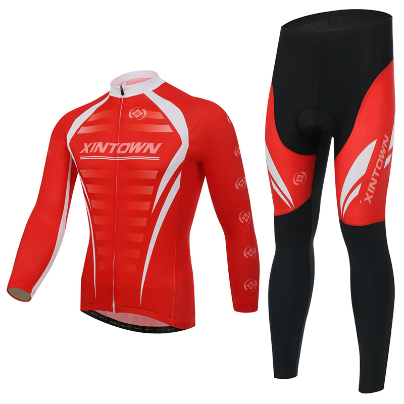 XINTOWN Cycling Sport Jersey Suits Long/Short Sleeved Bicycle Jersey Cycling Riding Exercise Jersey Polyester fiber Cycling Sets