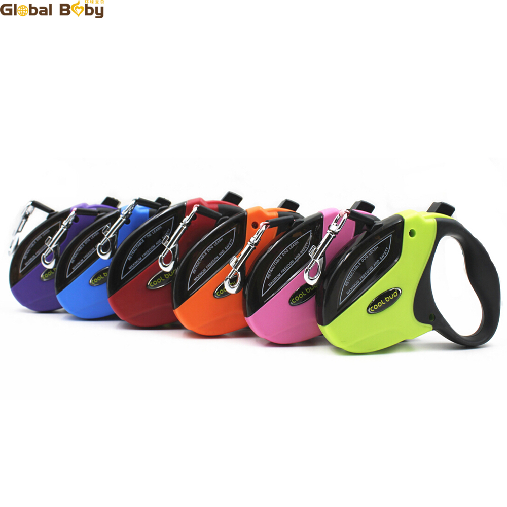 High Quality Brand 5M Automatic Retractable ABS Car Nylon Medium Large Dog Pet Lead Leashes