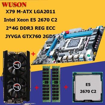 Building PC HUANAN X79 motherboard processor Xeon E5 2670 RAM 8G(2*4G) DDR3 REG ECC video card GTX760 2GD5 all tested