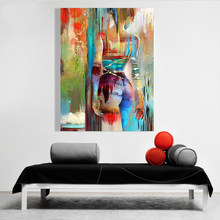 Free Shipping Figure Abstract Oil Painting Handed-Painted On Canvas For Wall Art Decor(China)