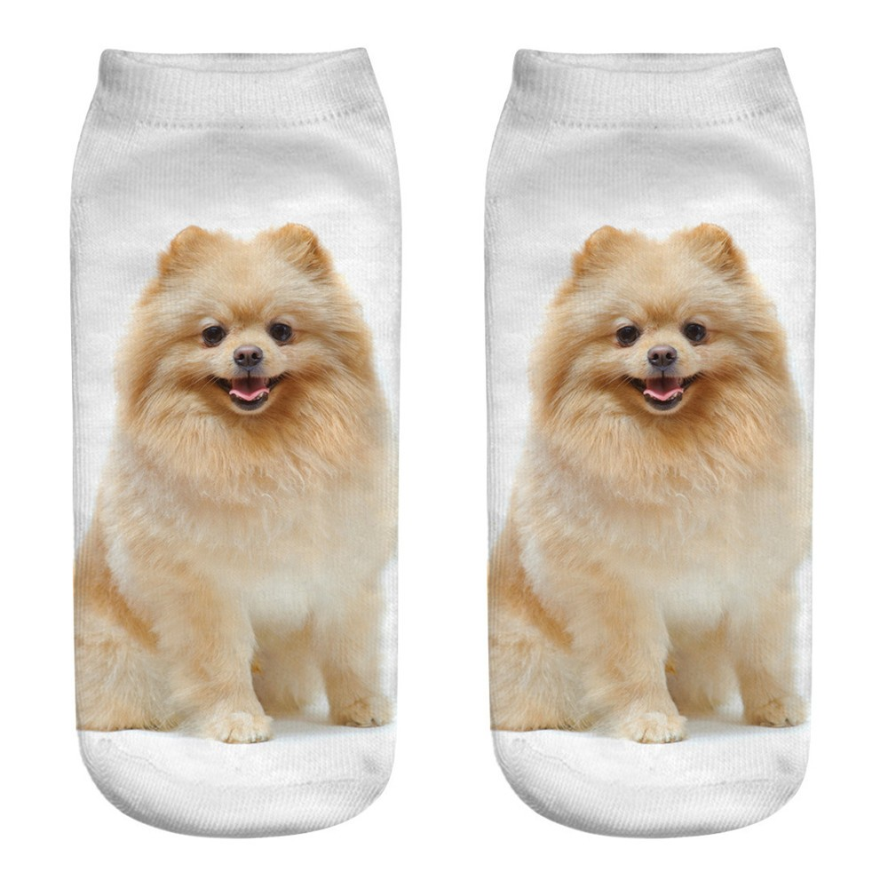 Cute Casual Business Socks 3D Dog Printing Medium Sports Socks Multicolor cute dog print 3D Sport socks 2019 new hot sell A30525