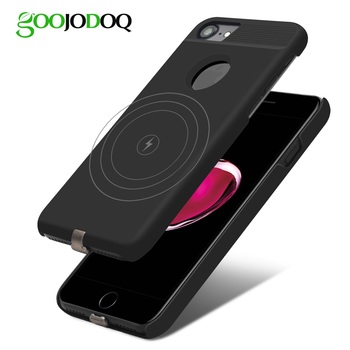 Qi Wireless Charger Receiver Case For iPhone 7 6 6s Mobile Phone Case Wireless Charging Pad Dock Cover For iPhone 7 Plus 6 6s 8