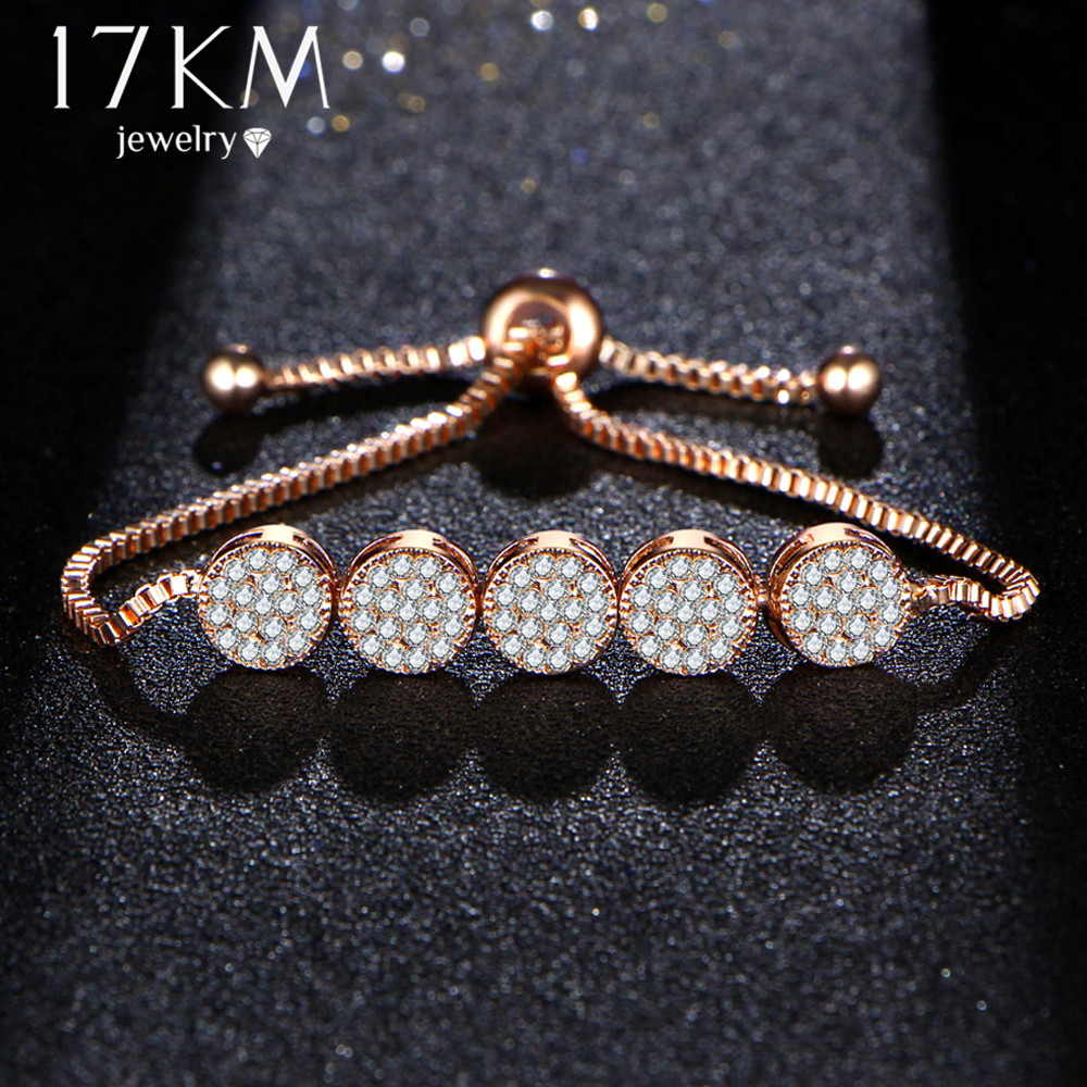 17 KM New Fashion Gelang Adjustable Untuk Wanita Pulseras Mujer Pesta - Perhiasan fashion - Foto 2